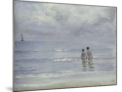 Boys Bathing on the Beach at Skagen, 1899-Peder Severin Kr?yer-Mounted Giclee Print