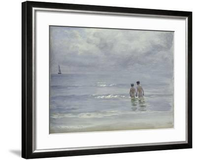 Boys Bathing on the Beach at Skagen, 1899-Peder Severin Kr?yer-Framed Giclee Print
