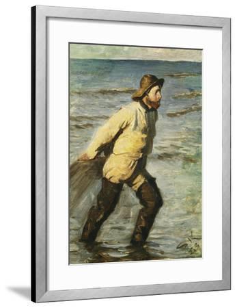 Daenischer Fischer Beim Einbringen Des Netzes-Peder Severin Kr?yer-Framed Giclee Print