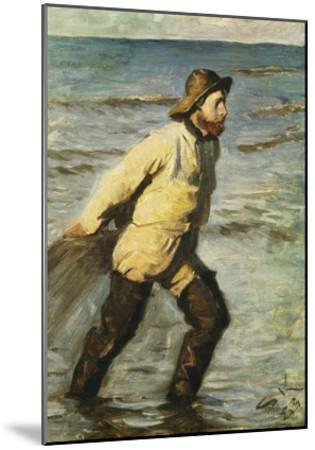 Daenischer Fischer Beim Einbringen Des Netzes-Peder Severin Kr?yer-Mounted Giclee Print