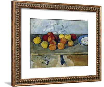 Still-Life with Apples and Cookies, 1879-82-Paul C?zanne-Framed Giclee Print