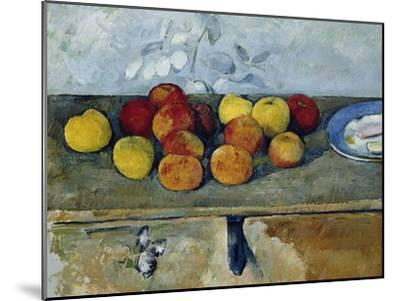 Still-Life with Apples and Cookies, 1879-82-Paul C?zanne-Mounted Giclee Print