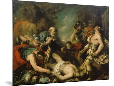Alexander the Great before the Corpse of Darius Iii-Francesco Guardi-Mounted Giclee Print