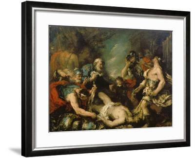 Alexander the Great before the Corpse of Darius Iii-Francesco Guardi-Framed Giclee Print