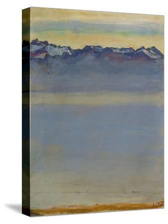 Lake Geneva with Savoyer Alps, 1907-Ferdinand Hodler-Stretched Canvas Print