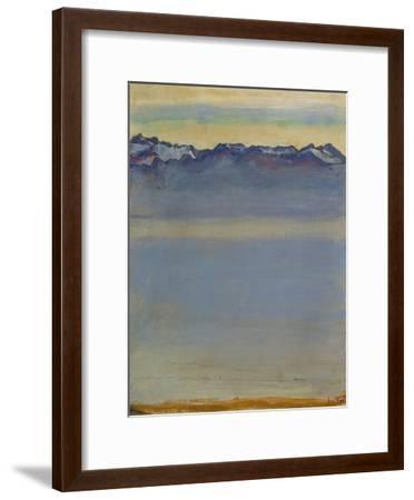 Lake Geneva with Savoyer Alps, 1907-Ferdinand Hodler-Framed Premium Giclee Print