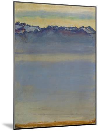Lake Geneva with Savoyer Alps, 1907-Ferdinand Hodler-Mounted Premium Giclee Print