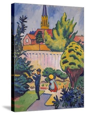 Children in the Garden, 1912-Auguste Macke-Stretched Canvas Print