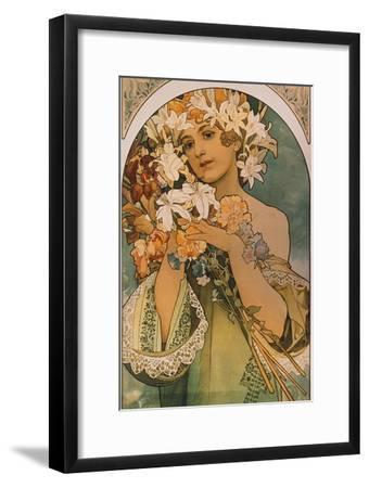 Blume, 1897-Alphonse Mucha-Framed Giclee Print