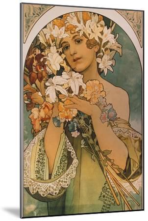 Blume, 1897-Alphonse Mucha-Mounted Giclee Print