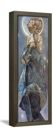 Sterne: Der Mond, 1902-Alphonse Mucha-Framed Stretched Canvas Print
