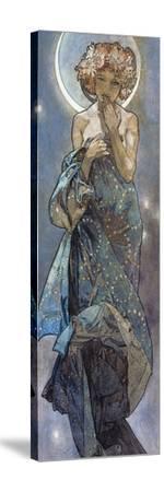 Sterne: Der Mond, 1902-Alphonse Mucha-Stretched Canvas Print