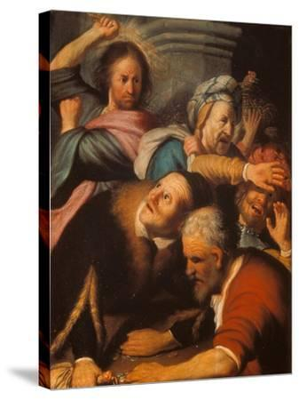 Christ Driving the Merchants from the Temple, 1626-Rembrandt van Rijn-Stretched Canvas Print