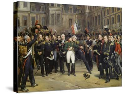 Napoleon I Bidding Farewell toImperial Guard atChateau De Fontainebleau, 20th April 1814-Horace Vernet-Stretched Canvas Print