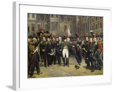 Napoleon I Bidding Farewell toImperial Guard atChateau De Fontainebleau, 20th April 1814-Horace Vernet-Framed Giclee Print