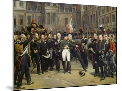 Napoleon I Bidding Farewell toImperial Guard atChateau De Fontainebleau, 20th April 1814-Horace Vernet-Mounted Giclee Print