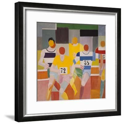 Les Coureurs, 1926-Robert Delaunay-Framed Giclee Print