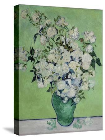 Vase with White Roses, 1890-Vincent van Gogh-Stretched Canvas Print