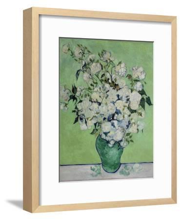 Vase with White Roses, 1890-Vincent van Gogh-Framed Giclee Print