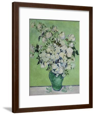 Vase with White Roses, 1890-Vincent van Gogh-Framed Giclee Print