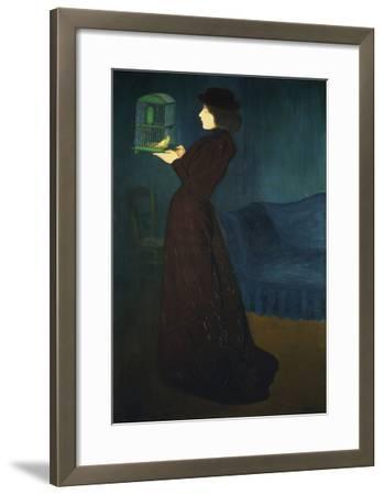 Dame Mit Vogelkaefig, 1892-Jozsef Rippl-Ronai-Framed Giclee Print