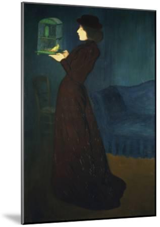 Dame Mit Vogelkaefig, 1892-Jozsef Rippl-Ronai-Mounted Giclee Print
