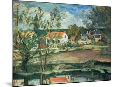 In the Valley of the Oise River , 1873/1875-Paul C?zanne-Mounted Giclee Print
