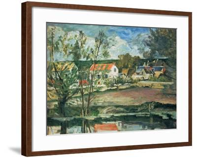 In the Valley of the Oise River , 1873/1875-Paul C?zanne-Framed Giclee Print