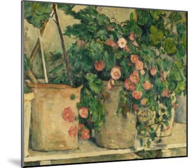 Still Life with Petunias, about 1885-Paul C?zanne-Mounted Giclee Print