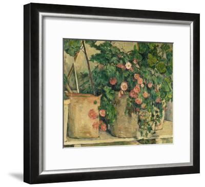 Still Life with Petunias, about 1885-Paul C?zanne-Framed Giclee Print