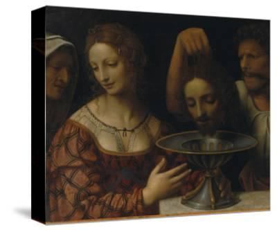 Salome with the Head of St. John the Baptist-Bernardino Luini-Stretched Canvas Print