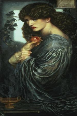 Proserpina, 1877-Dante Gabriel Rossetti-Stretched Canvas Print