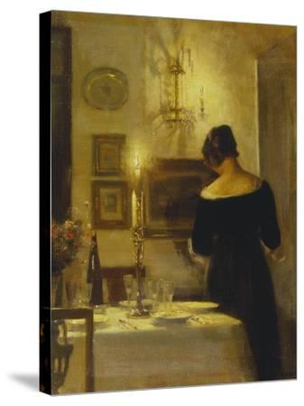 In the Dining Room-Carl Holsoe-Stretched Canvas Print