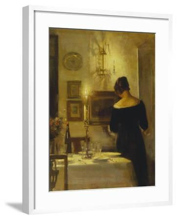 In the Dining Room-Carl Holsoe-Framed Giclee Print
