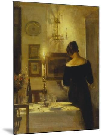 In the Dining Room-Carl Holsoe-Mounted Giclee Print