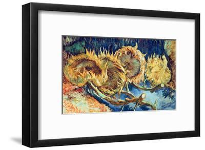 Four Cut Sunflowers, 1887-Vincent van Gogh-Framed Giclee Print