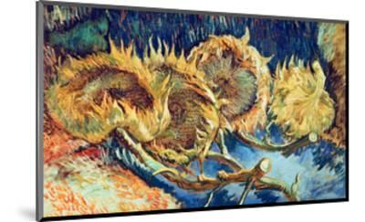 Four Cut Sunflowers, 1887-Vincent van Gogh-Mounted Giclee Print