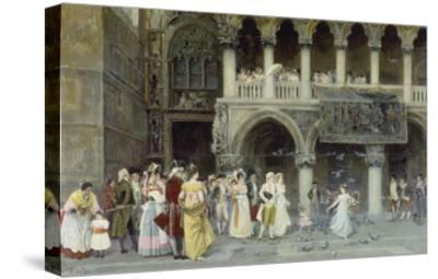A Venetian Wedding, 1900-Gabriel Puig Roda-Stretched Canvas Print