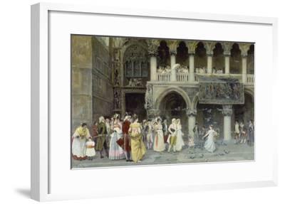 A Venetian Wedding, 1900-Gabriel Puig Roda-Framed Giclee Print