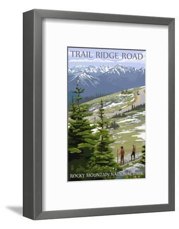 Trail Ridge Road - Rocky Mountain National Park-Lantern Press-Framed Art Print