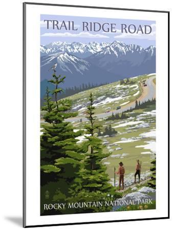 Trail Ridge Road - Rocky Mountain National Park-Lantern Press-Mounted Art Print