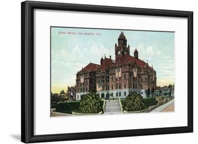 Los Angeles, California - Exterior View of the Court House-Lantern Press-Framed Art Print