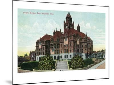 Los Angeles, California - Exterior View of the Court House-Lantern Press-Mounted Art Print