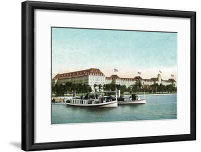 Palm Beach, Florida - Royal Poinciana Hotel View from Water-Lantern Press-Framed Art Print