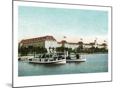 Palm Beach, Florida - Royal Poinciana Hotel View from Water-Lantern Press-Mounted Art Print