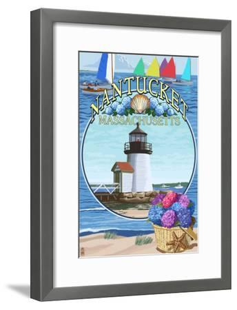 Nantucket, Massachusetts Montage-Lantern Press-Framed Art Print