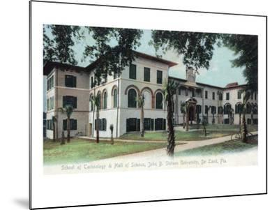 Deland, Florida - Stetson University, Hall of Science Building-Lantern Press-Mounted Art Print