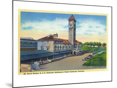 Baltimore, Maryland - Mt. Royal Station, Baltimore and Ohio Railroad View-Lantern Press-Mounted Art Print