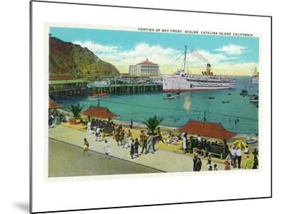Avalon, California - Portion View of the Bay Front-Lantern Press-Mounted Art Print