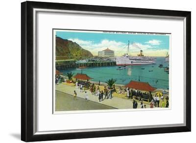 Avalon, California - Portion View of the Bay Front-Lantern Press-Framed Art Print
